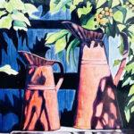 gardening oil on canvas original art bonnie perlin