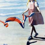 kite flying oil on canvas original coastal art bonnie perlin