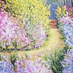 enchanted garden flora landscape original art bonnie perlin