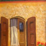 tuscan doorway original painting by artist bonnie perlin