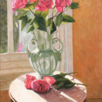 alicia's roses still life original painting florida artist bonnie perlin