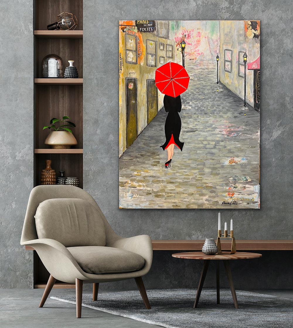 april in paris original painting by bonnie perlin office wall