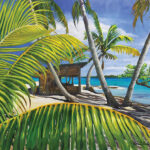 beach shack seascape painting florida artist bonnie perlin