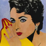 elizabeth taylor pop art original painting florida artist bonnie perlin