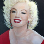 marilyn monroe pop art original painting florida artist bonnie perlin